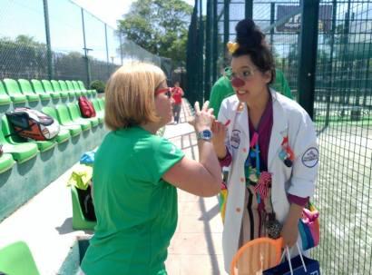 Doctores Sonrisas de la Fundación Theodora en el Torneo Solidario Mama Natura